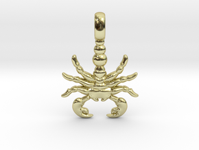 SCORPION TOTEM Zodiac Pendant Jewelry Symbol in 18K Gold Plated