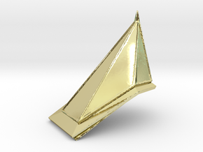 Red Pyramid Thing in 18K Gold Plated