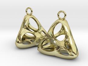 Irene Earrings (silver) in 18K Gold Plated