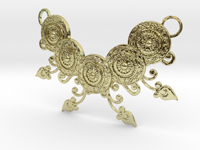 Ornamental Floral Necklace in 18K Gold Plated
