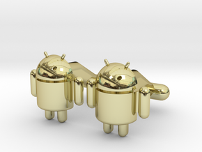 Android Cufflinks in 18K Gold Plated