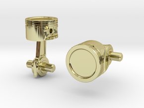 Piston Cufflinks in 18K Gold Plated