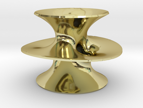 Costa's Minimal Surface in 18K Gold Plated