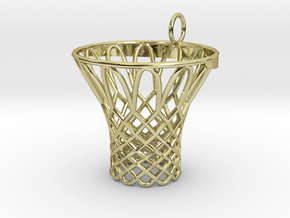 Pendant Basketball Hoop in 18K Gold Plated