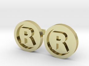 Registered Trademark Logo Cuff Links in 18K Gold Plated