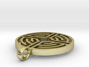Labyrinth Pendant in 18K Gold Plated