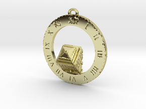 TARDIS Angled Top Half - Pendant in 18K Gold Plated