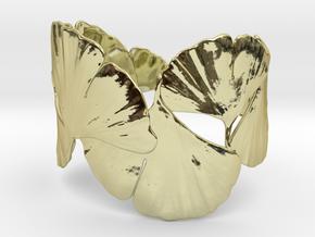 Ginko Bracelet size M,L,XL in 18k Gold Plated Brass: Medium