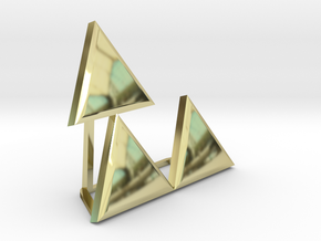 Triforce Meme in 18K Gold Plated