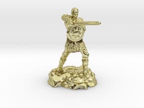 Varis, the Half Elf Fighter Spy in 18K Gold Plated