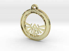 Tri-force Circle-pendant in 18K Gold Plated