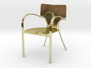 "Strada Chair 3.7"" tall in 18K Gold Plated"