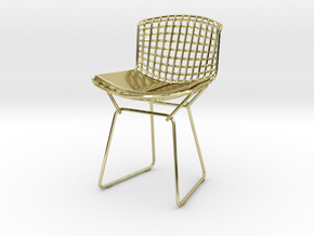 """Knoll Bertoia Side Chair 3.9"""" tall in 18K Gold Plated"""