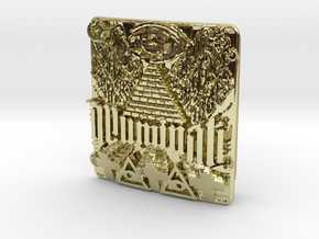 Illuminati Belt Buckle in 18K Gold Plated