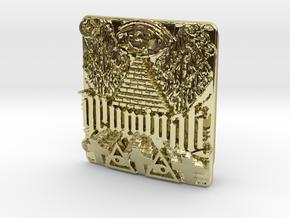 Illuminati Belt Buckle in 18K Gold Plated
