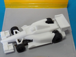 HO 2014 Indy Car Slot Car Body in White Strong & Flexible Polished