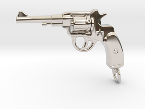 Russian Gun - NAGANT in Rhodium Plated Brass
