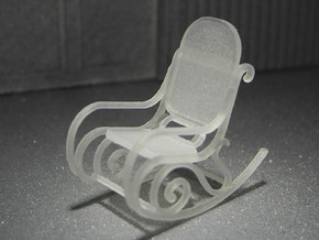 1:48 Bentwood Rocking Chair in Frosted Ultra Detail