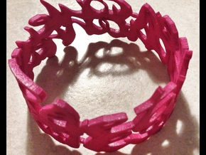 Walt Disney's citation cuff in Pink Strong & Flexible Polished