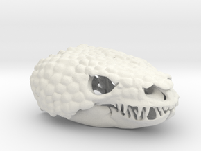 Gila Monster Pendant - Life-sized (75mm) in White Natural Versatile Plastic