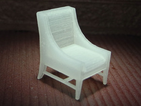 1:48 Contemporary Slipper Chair in Smooth Fine Detail Plastic