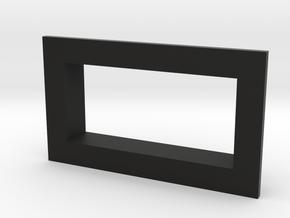 Square .28 Voltmeter Bezel in Black Natural Versatile Plastic