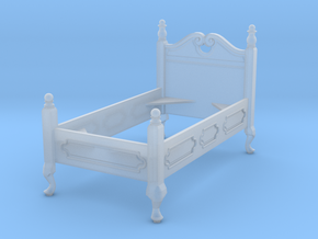1:48 Queen Anne Twin Bed in Smooth Fine Detail Plastic