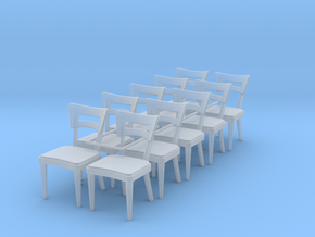 1:48 Dog Bone Chairs (Set of 10) in Frosted Ultra Detail