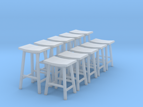 1:48 Saddle Stools in Smooth Fine Detail Plastic