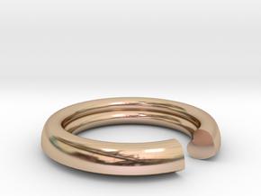 Secret Heart Ring 20x20 inner diameter in 14k Rose Gold Plated Brass