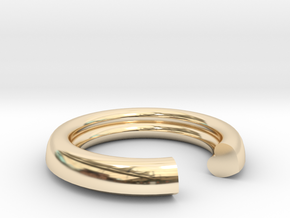 Secret Heart Ring 20 mm x 20 mm in 14K Yellow Gold