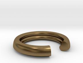 Secret Heart Ring 20 mm x 20 mm in Natural Bronze