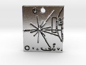 Pioneer Plaque Pendant in Natural Silver