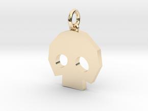 Gold Skulltula token pendant in 14K Yellow Gold: Medium