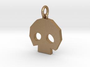 Gold Skulltula token pendant in Matte Gold Steel: Medium