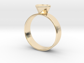Ring with heart in 14k Gold Plated Brass
