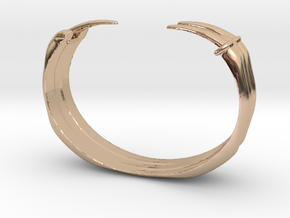 Claw Bracelet in 14k Rose Gold Plated Brass