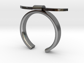 Bull Horn Ring - Sz.7 in Fine Detail Polished Silver