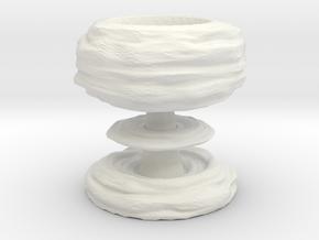 Mushroom cloud egg cup in White Natural Versatile Plastic