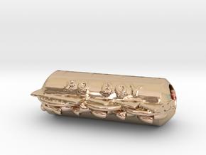 Shrimp Po' Boy pendant in 14k Rose Gold Plated Brass