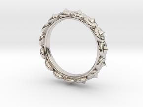 Circular Ring ø 15,3 0.602 Inch 48 C in Rhodium Plated Brass