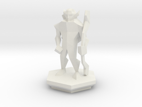 Low Poly Elf Ranger (Table-Top Alliance Base Unit) in White Natural Versatile Plastic