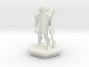 Low Poly Elf Ranger (Table-Top Alliance Base Unit) in White Natural Versatile Plastic