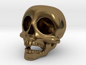 Skull Keychain in Polished Bronze