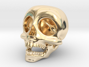 Skull Keychain in 14k Gold Plated Brass
