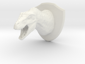 Tyrannosaur Head (MEST 2015) in White Natural Versatile Plastic