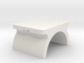 Led Leg Plate in White Natural Versatile Plastic