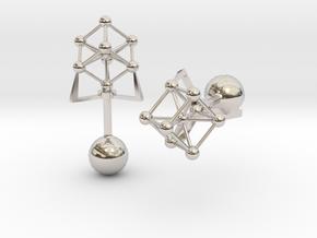 Atomium Cufflinks in Platinum