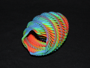 Mathematical Mollusca - Medium Rainbow Conch in Full Color Sandstone