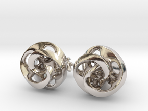 Mobius Cufflinks in Rhodium Plated Brass